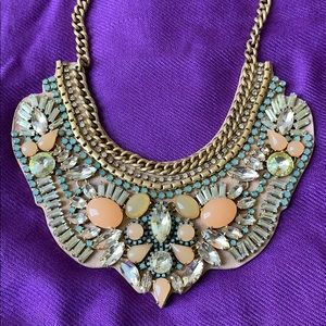 Stella & Dot Giverny Embroidered Necklace